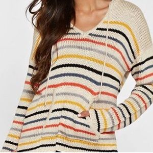 Love Stitch Hooded Poncho Sweater
